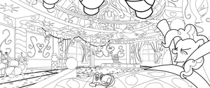 MLP: BoMPP Panel 01 Line Art by FlamingoRich