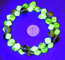 uranium-glass wrap bracelet by wombat1138