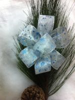 Large Glittery Snow Flake Bows-For Sale by DreamstartheWarrior