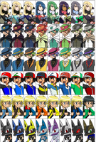 Smash Bros Pokemon Colour Swaps by LucarioShirona