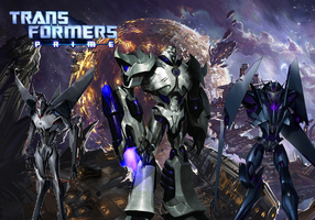 Transformers Prime Decepticons Poster by skyscream1