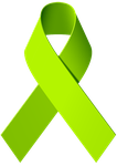 Lime Green Awareness Ribbon by skyzyk