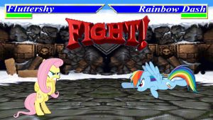 Pony Kombat Tournament Round 2, Battle 1 by Macgrubor