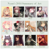 2014 Summary of Art by Nyanfood