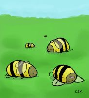 Dead Bumblebees by doomferretprincess
