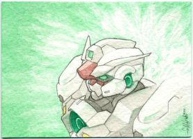 Gundam Dawn- Sketch Card by Tekka-Croe