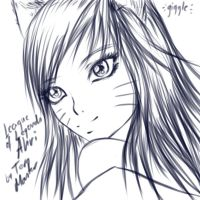 Ahri sketch by TeraMaster