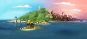 Island Painting by archivalcarnival