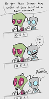 Zim and Gir Q and A by Skeleion