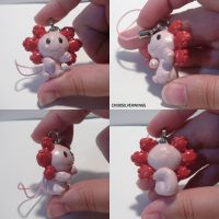 Axolotl charm by ChibiSilverWings