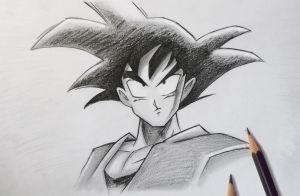 Dragon Ball: Goku Drawing by MCorderroure