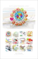 2014 Chromatic calendar by k3-studio
