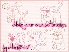 Make your own pet brushes by Machii-csi