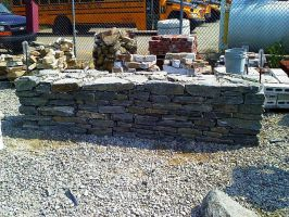 retaining wall practice by Horsefly1