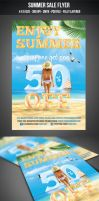 Summer Sale Flyer by graphicstock