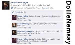 Dramione Facebook - Draco kissed Hermione by DollieNemsay