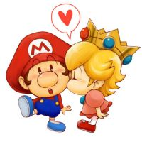 Baby Mario and Baby Peach by LuigiBro96