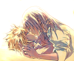 a Rikuroku kiss for T.H. by illbewaiting