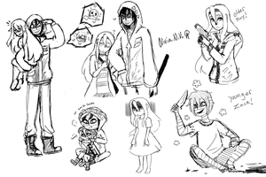 Angels of Death Sketches 1 by octopusxtimexkeeper