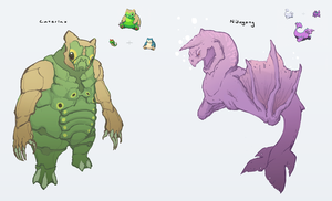 Pokemon Fusion- Caterlax and Nidogong by KTKruse