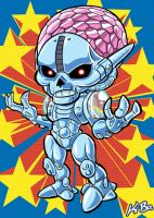 Super Powers Brainiac Art Card by K-Bo. by kevinbolk