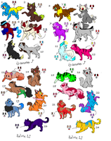 12 FREE dogs, 12 FREE cats 2 CLOSED by LexiDog01
