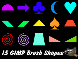 15 Basic GIMP Brush Shapes (Pack 2) by PkGam