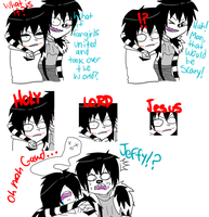 Jeff The Killer and Laughing Jack-Comic #8. by MikaelBratLoni