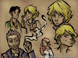 Dorian Gray Sketches by ShamanEileen