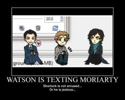 Texting Moriarty by PlumPlinko