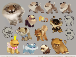 Pomeranian Character Design pg3 by kimchii