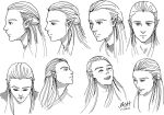 Legolas Head Study by ArtElleth87