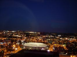Minneapolis Metrodome Night by ice-queen-blue