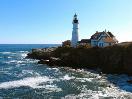Portland lighthouse by sataikasia
