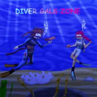 Diver gals zone- poster competition entry by Suomipoika11