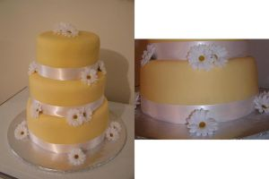 Daisy Wedding Cake by ayarel