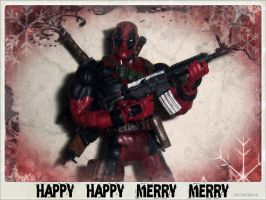 Deadpool's X-Mas Card by PsychosisEvermore