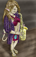 A Passionate Jazz Saxophonist by DanielaLaverne