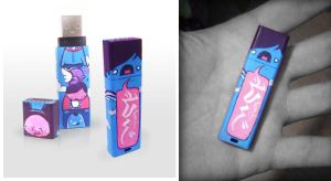 Custom Painted 8GB USB by thehermitdesign