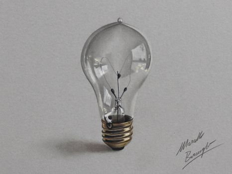 Lightbulb DRAWING by Marcello Barenghi by marcellobarenghi