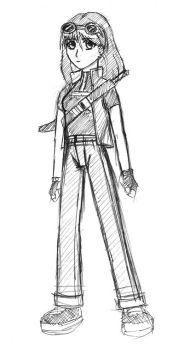 Concept: Female Protagonist 1 (2004) by DarkNoise-Studios