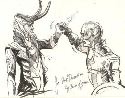 Loki VS captain america by Queen-of-cydonia