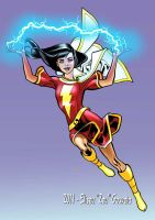Mary Marvel colors by EliseuGouveia