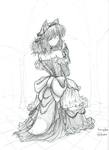 Komugiko in a Ball Gown by fredrin
