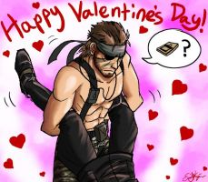 Big Boss and Ocelot Valentine by Chewilicious