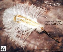 PEGASUS Horse Feather Pen by ChaeyAhne
