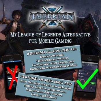 Imperian MMO App infographic by onebardmojo