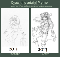 Draw this again Meme - Wanna fight? by Kendira