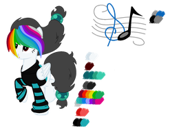 {Updated main OC} Audio Surf by PinnacleOfTime