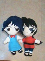 Ranma 1/2 plushie couple by Hao-007